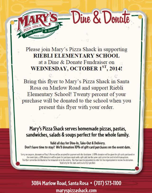 Dine and Donate 10-1-14 snip
