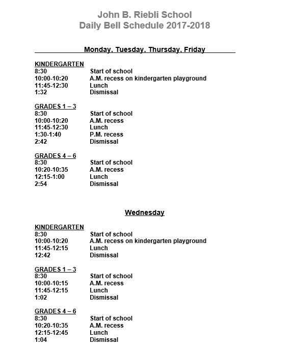 making a school schedule